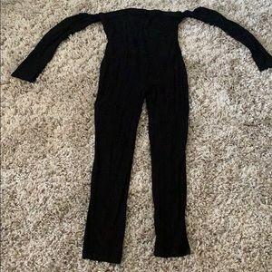 Black tube top jumpsuit